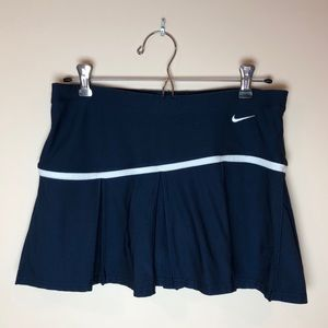 Nike Shorts - Nike Medium Dri-FIT Navy & White Tennis Skirt